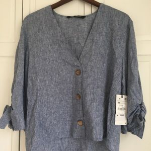 Blue medium Zara shirt